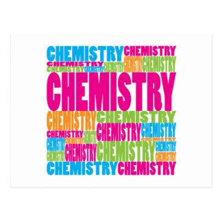 Química colorida tarjeta postal