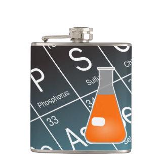 Química (cónica) anaranjada del frasco de Erlenmey