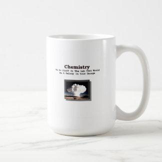 Química - crimen en su garaje (taza) taza básica blanca