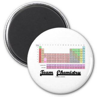 Química de equipo tabla de elementos periódica iman de nevera
