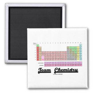 Química de equipo tabla de elementos periódica iman