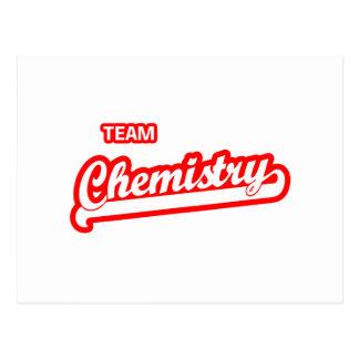 Química de equipo tarjetas postales