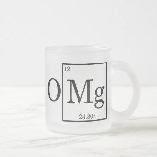 Química de la ciencia del magnesio de OMG Taza De Café Esmerilada