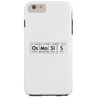 Química de la palabra de los elementos de tabla funda resistente iPhone 6 plus