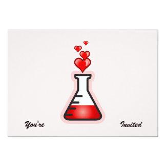 """Química de la poción de amor, ciencia de la salud invitación 5"""" x 7"""""""