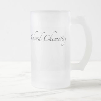 Química del acorde taza de cristal