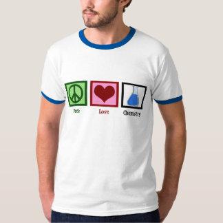 Química del amor de la paz camisas