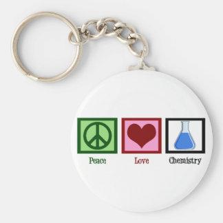 Química del amor de la paz llavero redondo tipo pin
