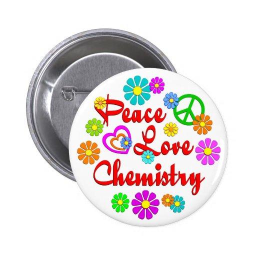 Química del amor de la paz pin redondo 5 cm