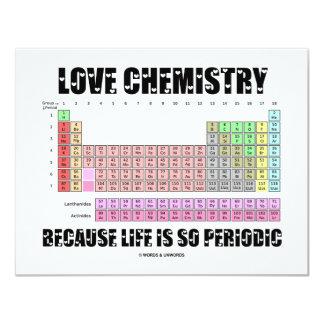 """Química del amor porque la vida es tan periódica invitación 4.25"""" x 5.5"""""""