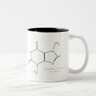 Química del chocolate taza de dos tonos