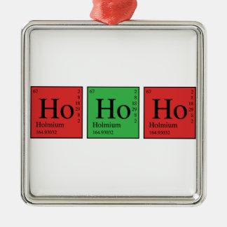 Química del navidad adorno navideño cuadrado de metal