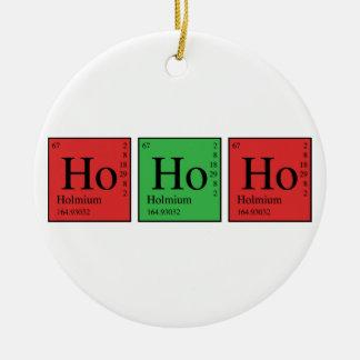 Química del navidad adorno navideño redondo de cerámica