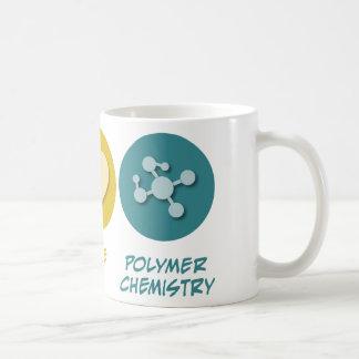 Química del polímero del amor de la paz tazas de café