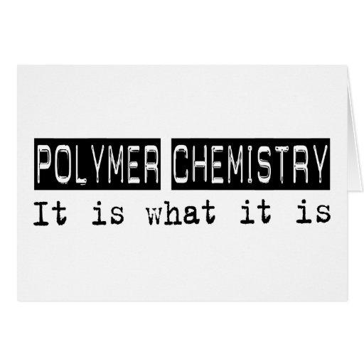 Química del polímero es tarjetas