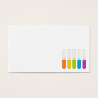 química e los reactivo de los tubos de ensayo tarjetas de visita