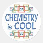 Química fresca pegatinas redondas