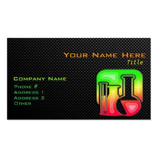 Química lisa plantilla de tarjeta personal