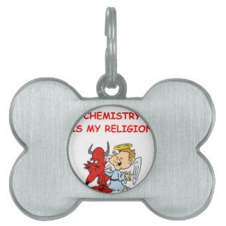 química placas de mascota