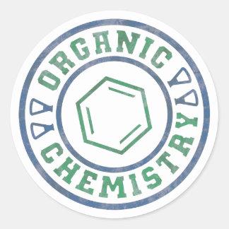 Química orgánica pegatina redonda