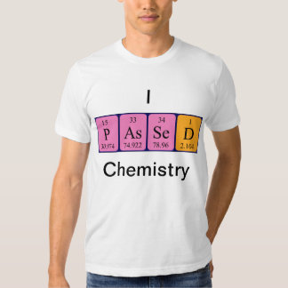 Química pasajera camisa del nombre de la tabla