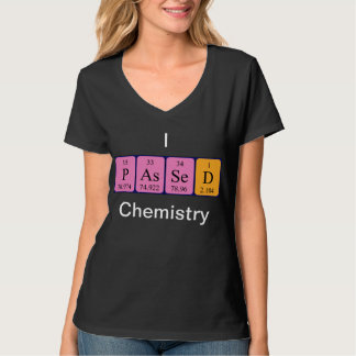 Química pasajera camisa del nombre de la tabla per