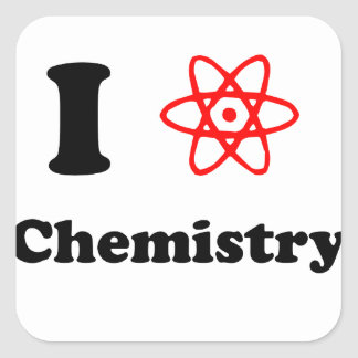 Química Pegatina Cuadrada