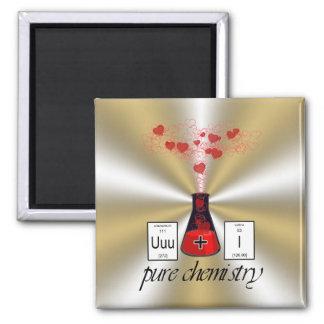 Química pura imán cuadrado