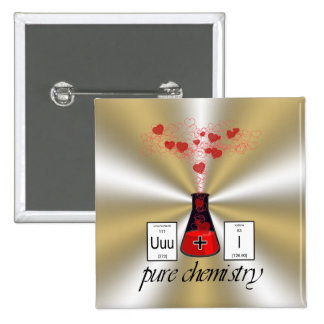 Química pura pin cuadrada 5 cm