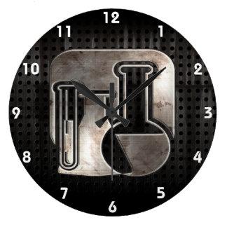 Química rugosa reloj redondo grande