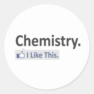 Química… tengo gusto de esto pegatina redonda