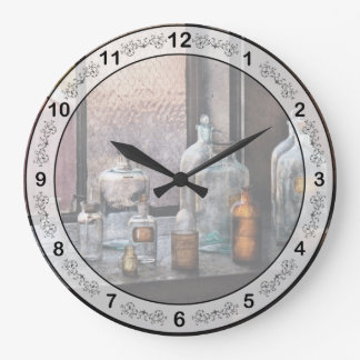 Químico - botellas reloj redondo grande