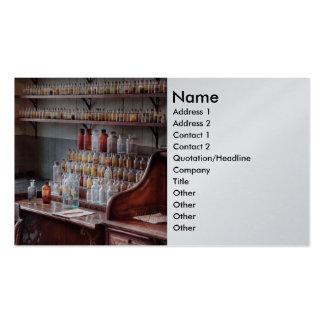 Químico - ciencia del perfume plantilla de tarjeta de negocio