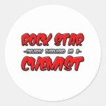 Químico de la estrella del rock… etiqueta redonda