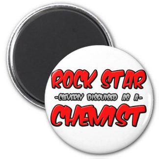 Químico de la estrella del rock… iman de frigorífico