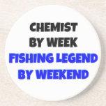 Químico de la leyenda de la pesca posavaso para bebida
