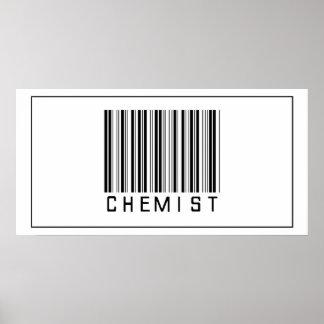 Químico del código de barras póster
