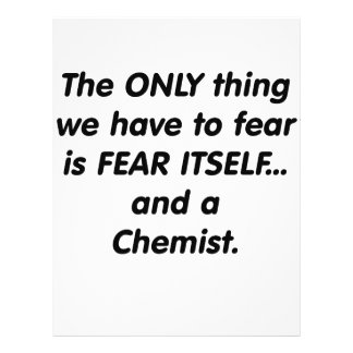 Químico del miedo tarjetones