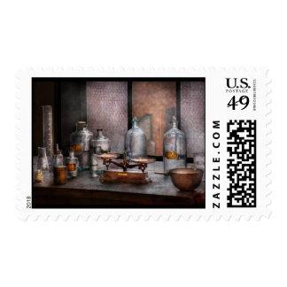 Químico - el arte de la medida timbre postal