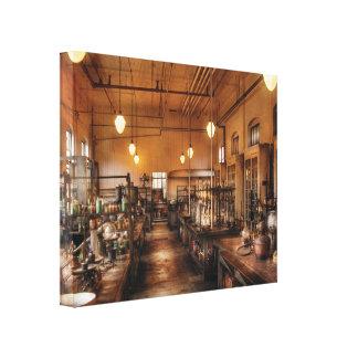 Químico - el laboratorio de Chem Lona Envuelta Para Galerías