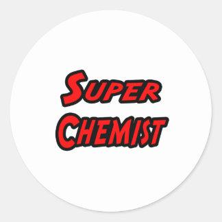 Químico estupendo pegatina redonda