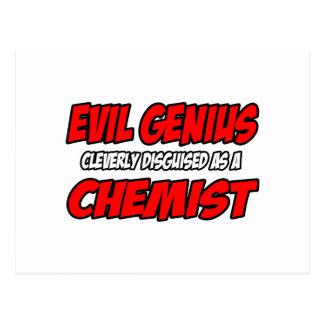 Químico malvado del genio… tarjetas postales
