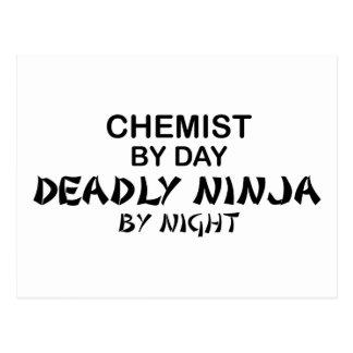 Químico Ninja mortal por noche Postal