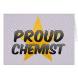 Químico orgulloso felicitacion
