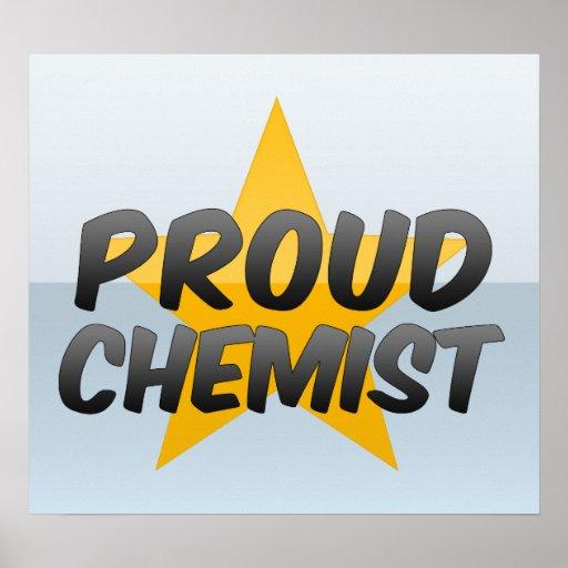 Químico orgulloso impresiones