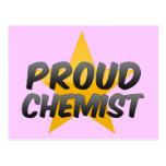 Químico orgulloso tarjeta postal