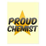 Químico orgulloso tarjetas postales