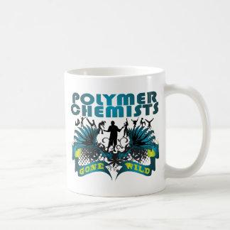 Químicos del polímero idos salvajes taza de café