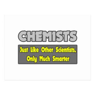 Químicos… más elegantes postales