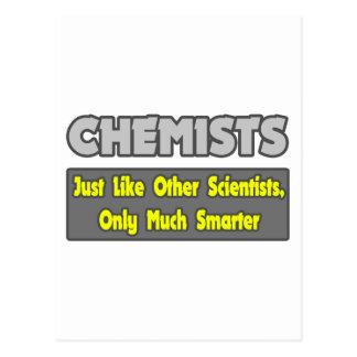 Químicos… más elegantes tarjetas postales